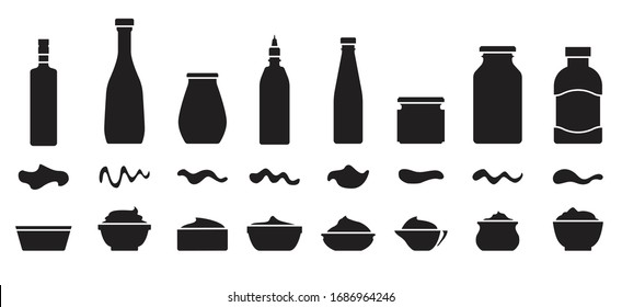 Sauce for bbq black vector set icon.Vector illustration icon ketchup and dip. Isolated illustration set bottle and bowl sauce.