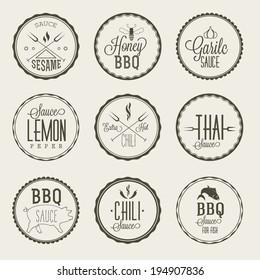 Sauce labels set