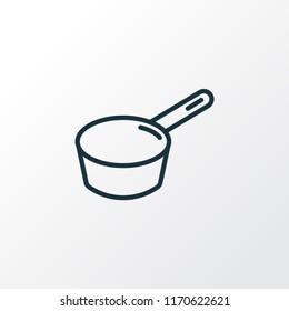 Sauce pan icon line symbol. Premium quality isolated pot element in trendy style.
