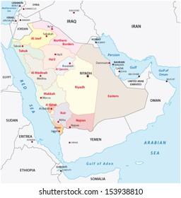 saudi arabia administrative map