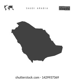Saudi Arabia Blank Vector Map Isolated on White Background. High-Detailed Black Silhouette Map of Saudi Arabia.
