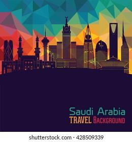 Saudi Arabia, detailed silhouette. Vector illustration