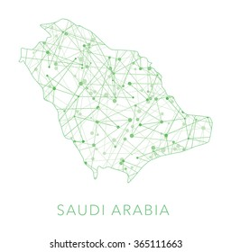 Saudi Arabia dotted texture country vector