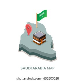 Saudi Arabia Isometric Map