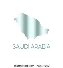 Saudi Map Logo