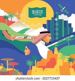 Saudi National Day 91 Design