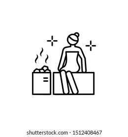 Sauna spa icon. Element of spa thin line icon