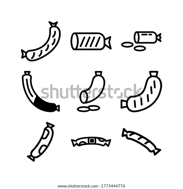 sausage icon or logo isolated sign symbol vector illustration - Collection of high quality black style vector icons