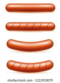 sausages meat stock vector illustration isolated on white background