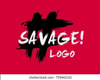 Savage logo for fashion brand