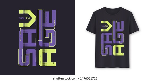 Savage youth graphic modern t-shirt vector design, typography.