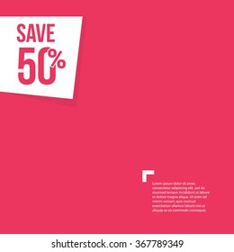 Save 50% Background