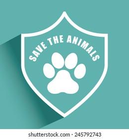 save the animals design, vector illustration eps10 graphic