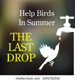 Save bird save environment illustration