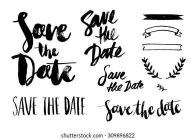 save the date brush script