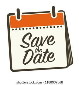 Save the Date Calendar Vector Illustration