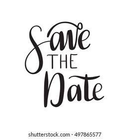 Save the date card. Hand drawn wedding calligraphy. Modern brush calligraphy. Hand drawn lettering background