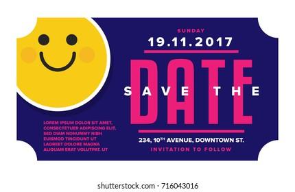 Save the Date Card. Modern elegant illustration template of Invitation Design.