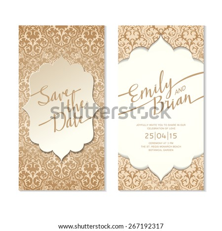 save the date card template wedding invitation card