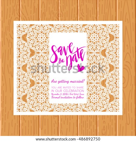 save the date cards template for laser cutting vintage pattern wedding invitations bridal