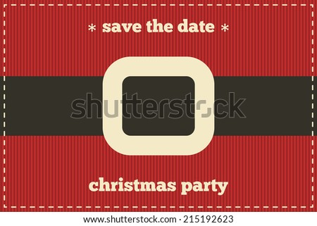 save date christmas card santa clothing stock vector royalty free