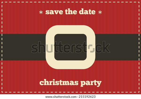 Save The Date Christmas Cards.Save Date Christmas Card Santa Clothing Stock Vector