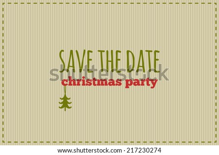 save the date christmas card traditional red and green colors inscription with christmas decoration - Whens Christmas