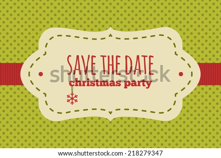 save the date christmas card traditional red and green colors vintage frame with christmas - Whens Christmas