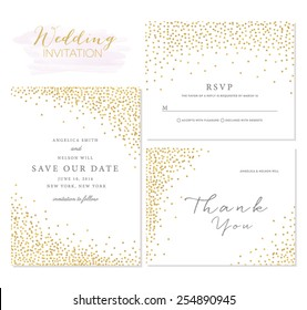 Save the Date Collection with Confetti Design