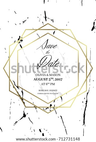 save date design template formal invite stock vector royalty free