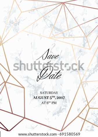 Save Date Design Template Invitation Holiday Stock Vektorgrafik