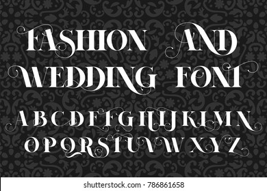 Save The Date, Fashion and Wedding Invitation font, lettering illustration.
