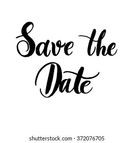 Save the date of hand-lettering sign vector.