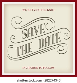 save date wedding invitation template vectorillustration のベクター