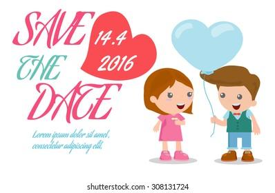 Save Date Invitation Card Design Save Stock Vector - Save the date invitation templates