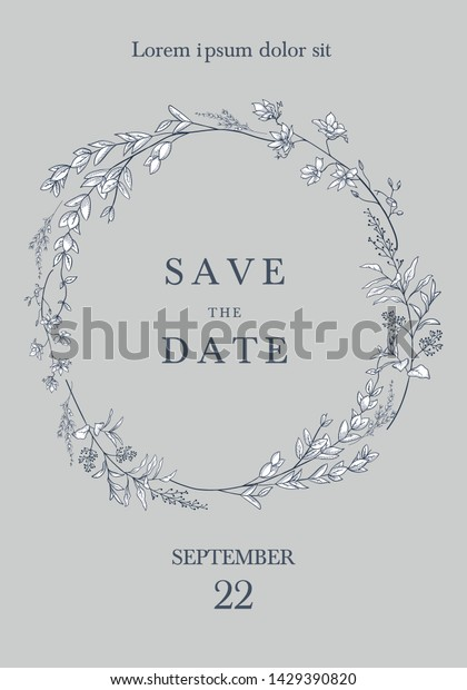 Save Date Invitation Card Design Vector Stock Vector