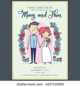 Wedding Invitation Template Cartoon Images Stock Photos Vectors