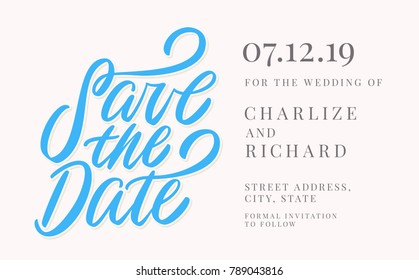 Save the date. Invitation template.