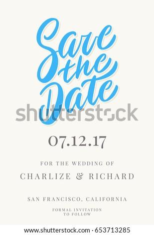 save date invitation template のベクター画像素材 ロイヤリティ