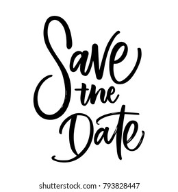 SAVE THE DATE LETTERING
