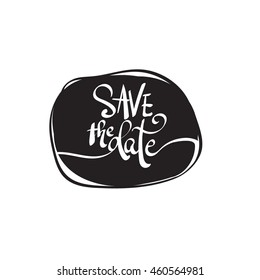 Save the date lettering word vector file
