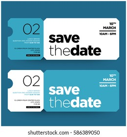 Save The Date Minimalist Modern Invitation Design