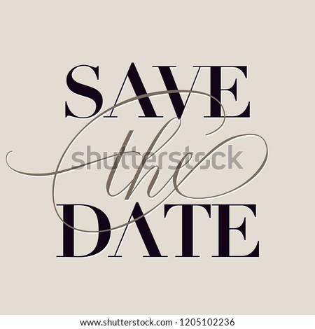 save date premade wedding template cursive stock vector royalty