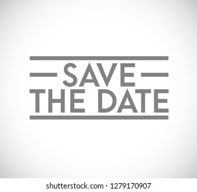Save the date stamp concept. infographic illustration. white Background