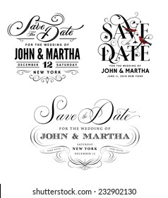 Save The Date Images Stock Photos Vectors Shutterstock - Hold the date templates