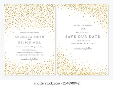 Save the Date and Wedding Card Illustration.Save the Date Invitation in Vector. Bridal Shower Template