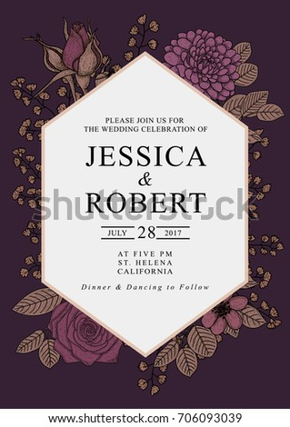 save date wedding celebration invitation card stock vector royalty