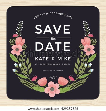 save date wedding invitation card hand stock vector royalty free