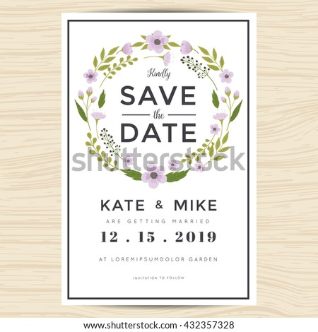 save the date wedding templates