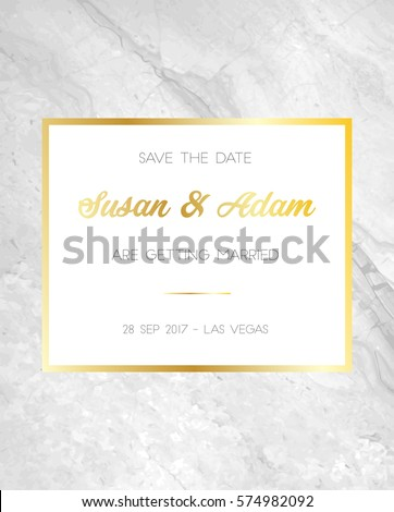 save date wedding invitation template marble stock vector royalty